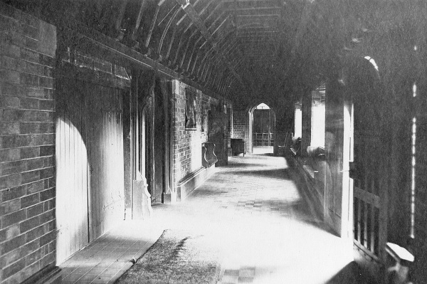 The cloisters shortly after completion